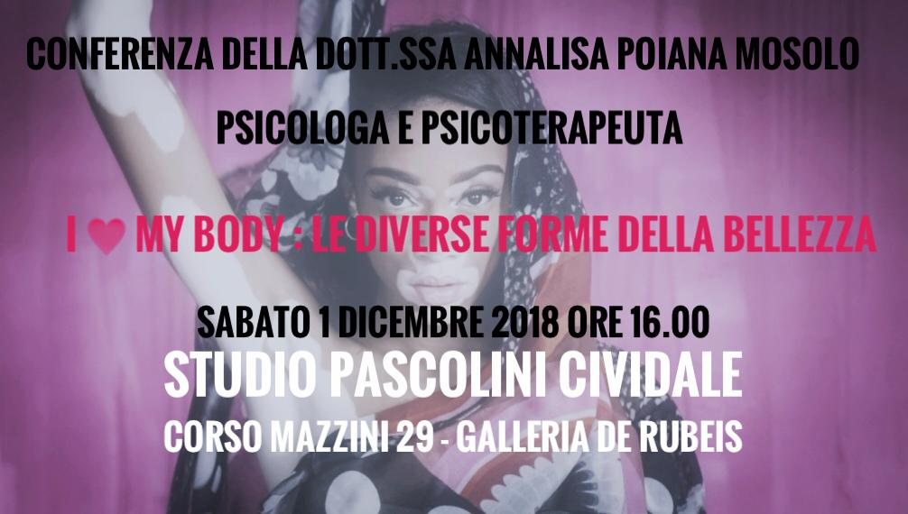 I Love My Body - Conferenza Annalisa Poiana Mosolo