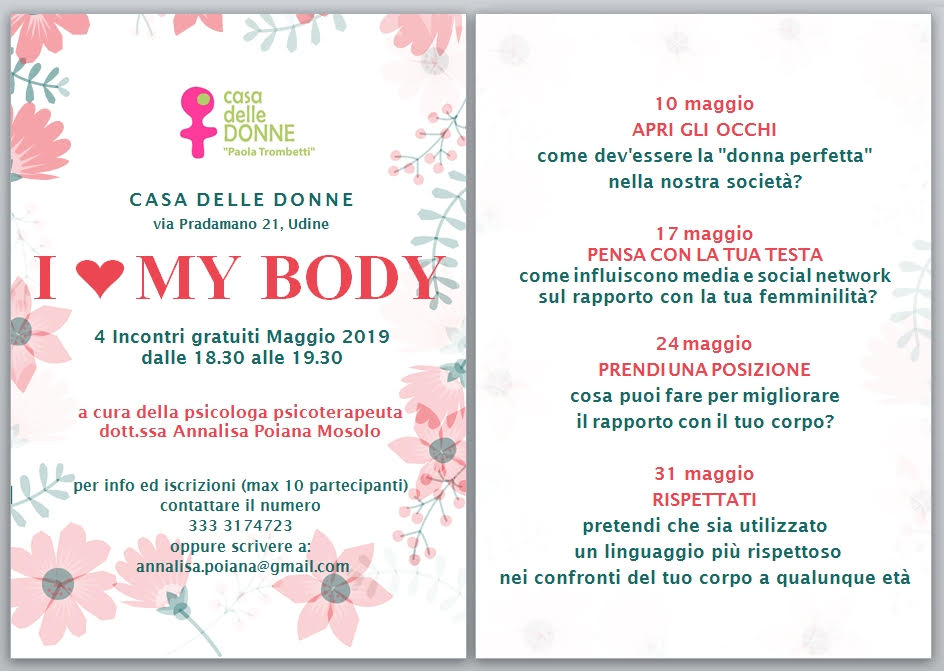 I Love my Body – Casa delle donne